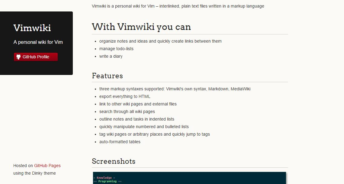 VimWiki Preview